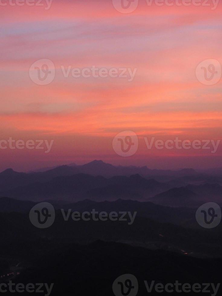 alba alla grande muraglia cinese foto