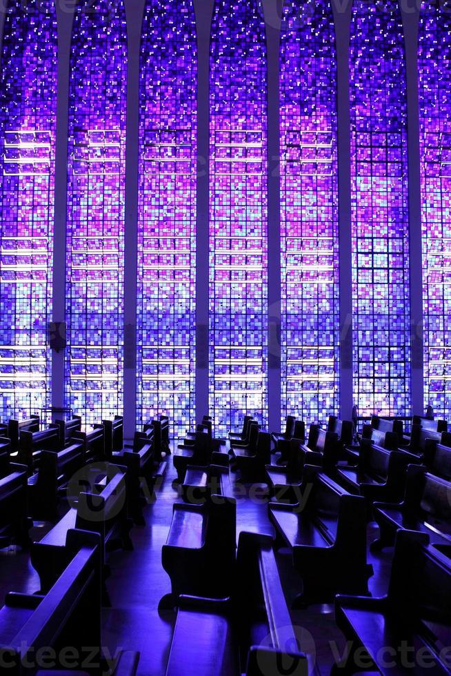 finestre della chiesa di dom bosco foto