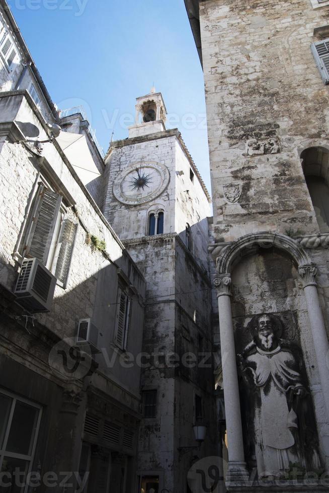 strade del centro storico di Spalato, Croazia foto