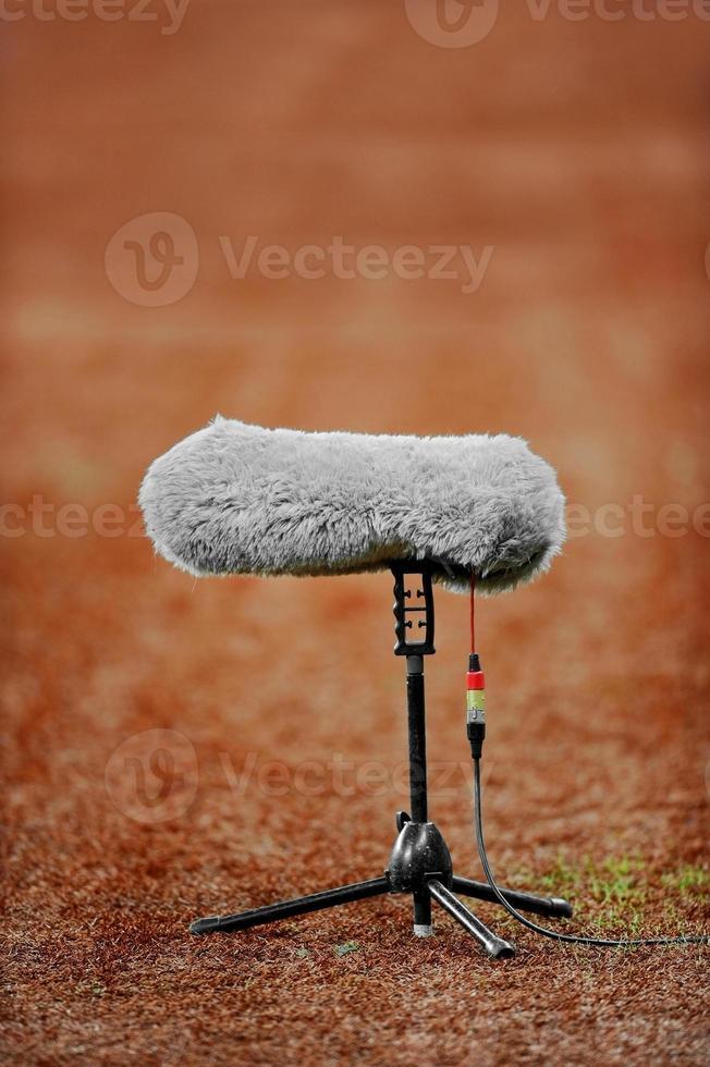 microfono sul campo sportivo foto