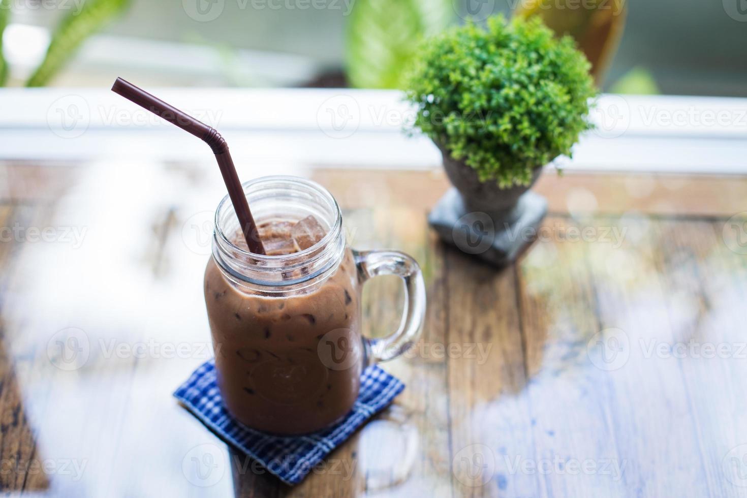 cioccolato ghiacciato su un tavolo foto