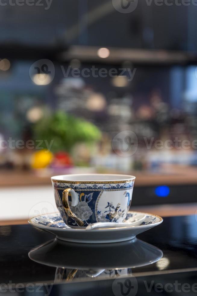 colpo a macroistruzione di una tazza di tè cinese foto