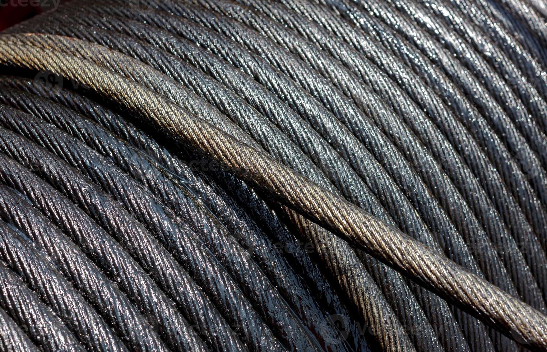 fondo del tamburo dell'imbracatura della corda. foto