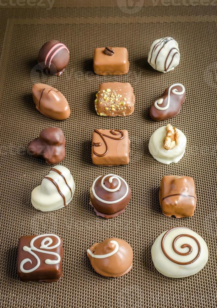 caramelle al cioccolato di lusso foto