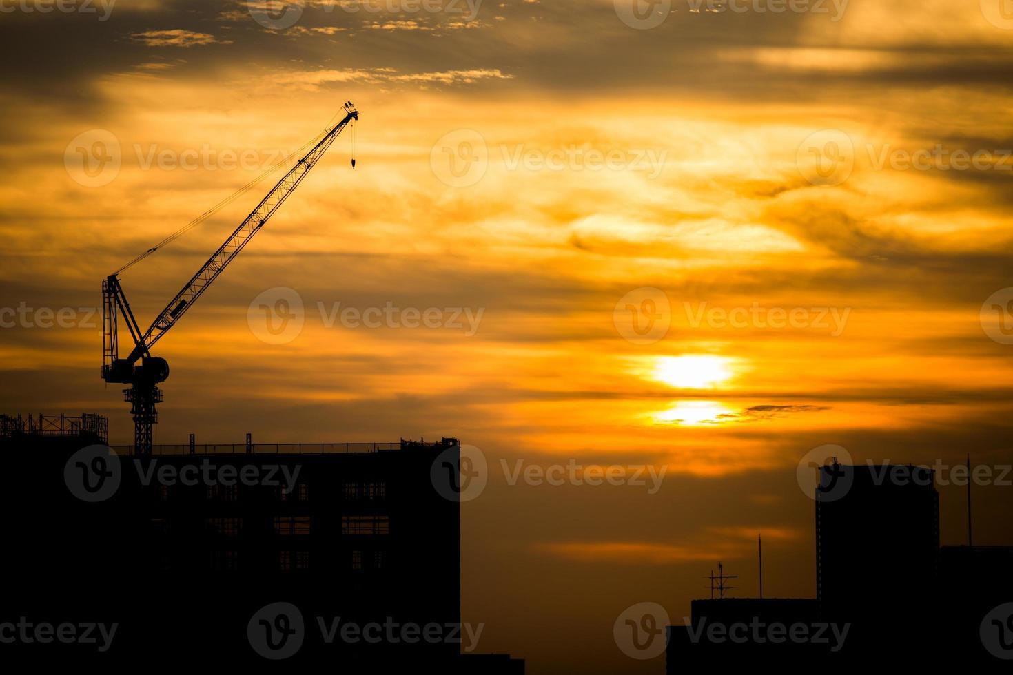costruzione della città foto