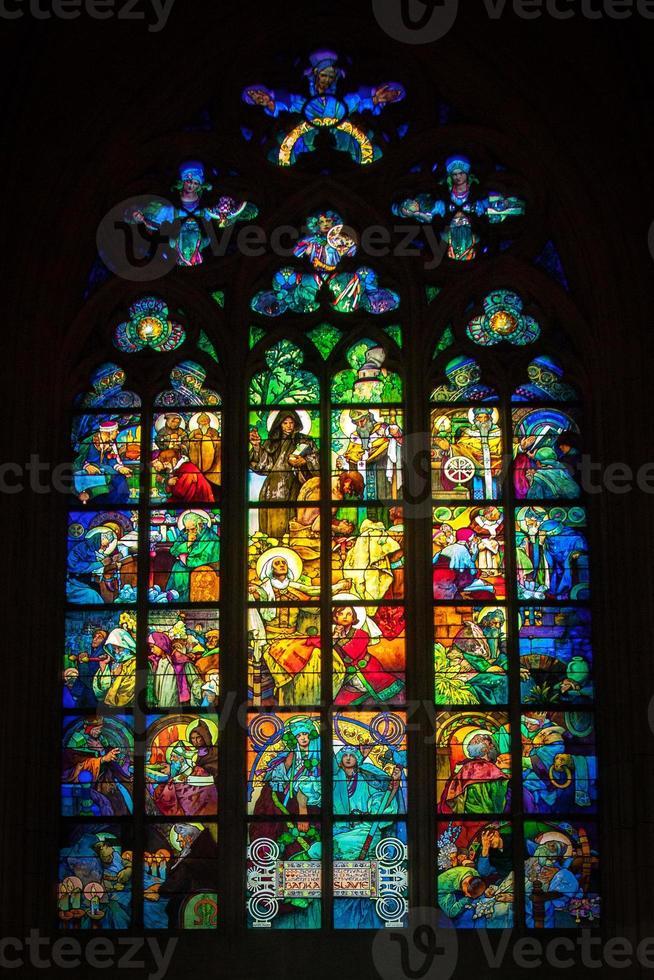 finestra con vetro temperato foto