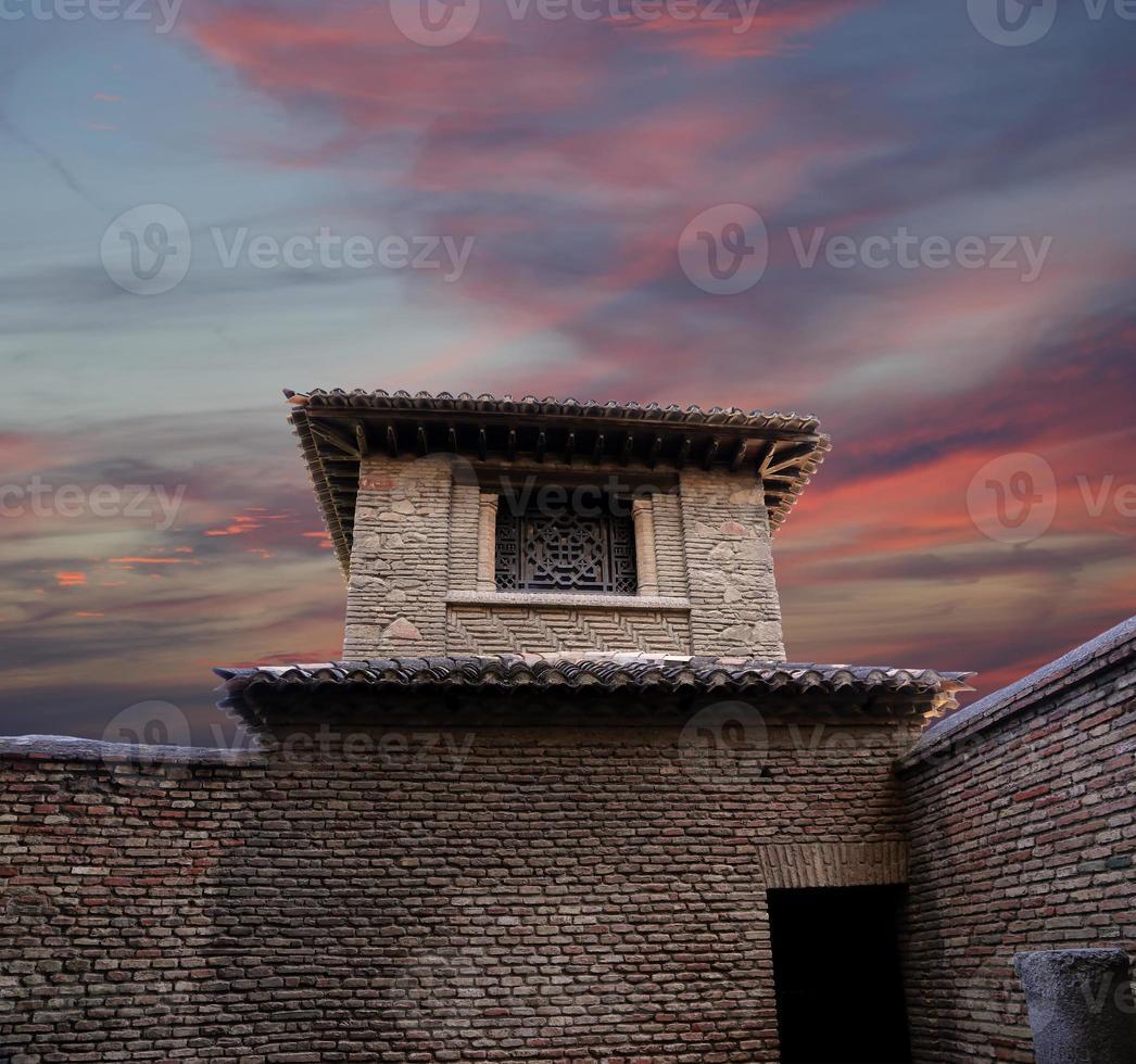 castello di Alcazaba sul monte Gibralfaro. malaga, andalusia, spagna. foto