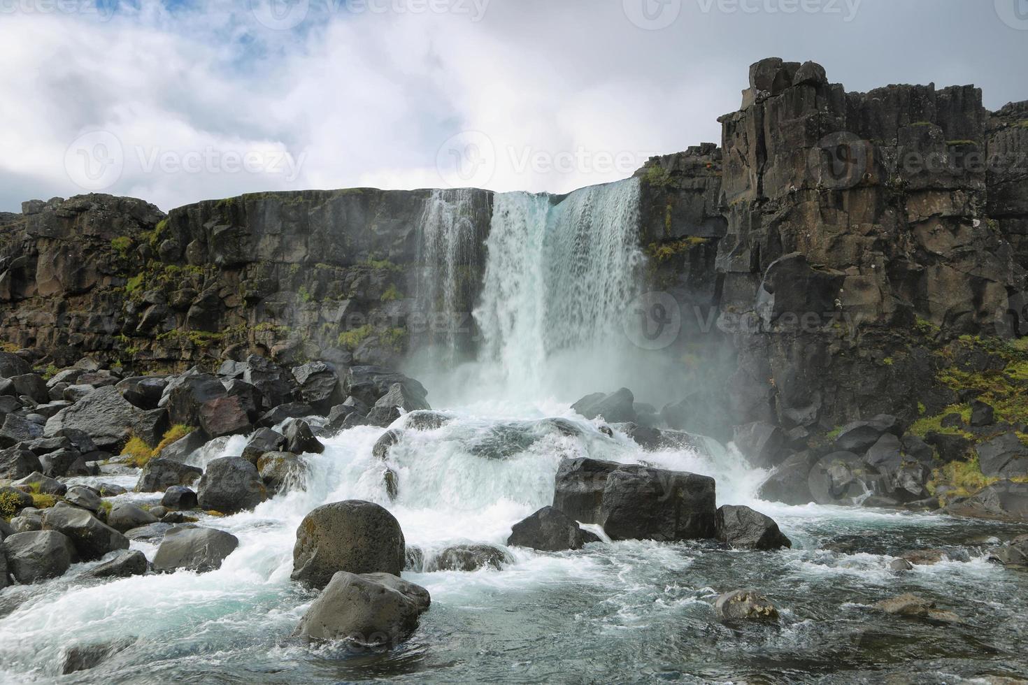 cascata di oxararfoss, islanda foto