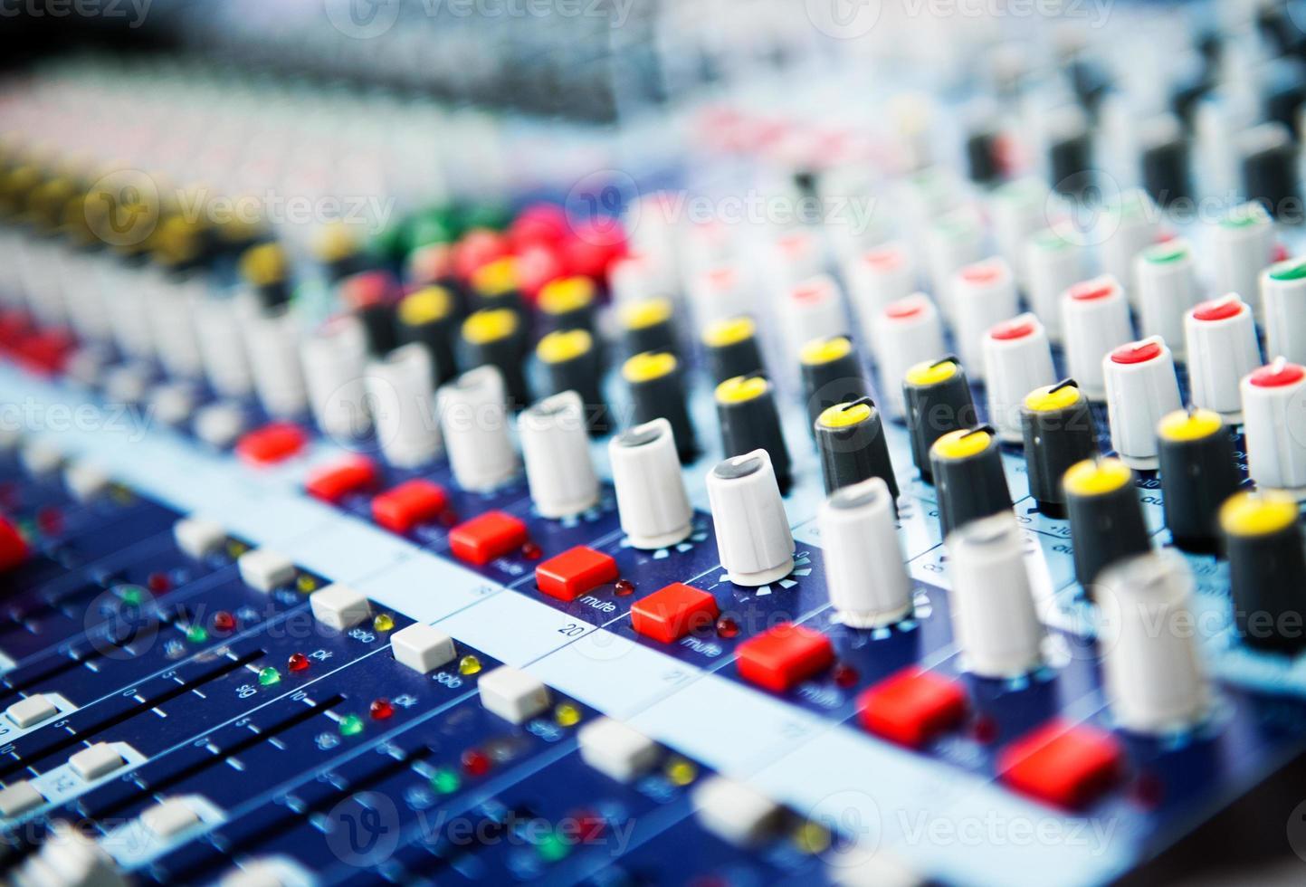 controllo del mixer audio foto