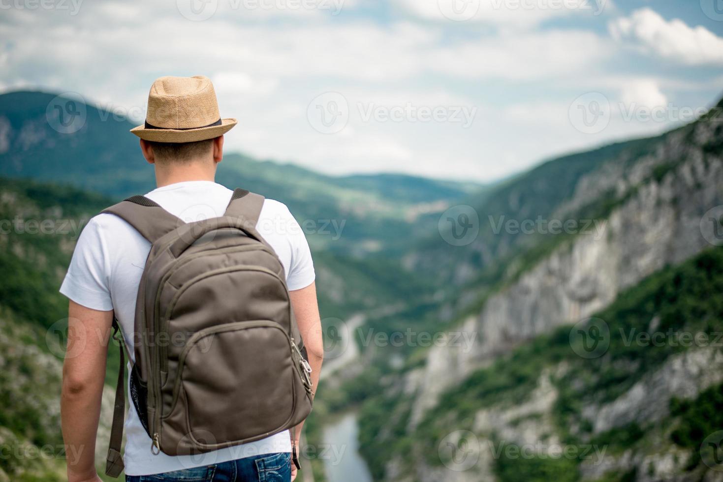 escursionista di montagna uomo foto