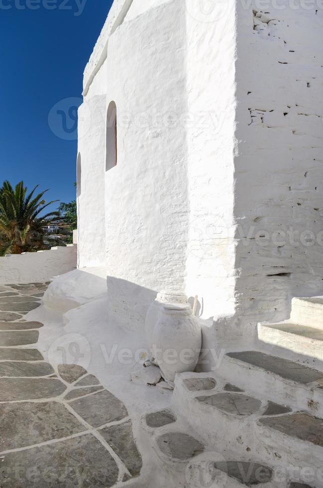 strada nell'isola di sifnos, cicladi, grecia foto