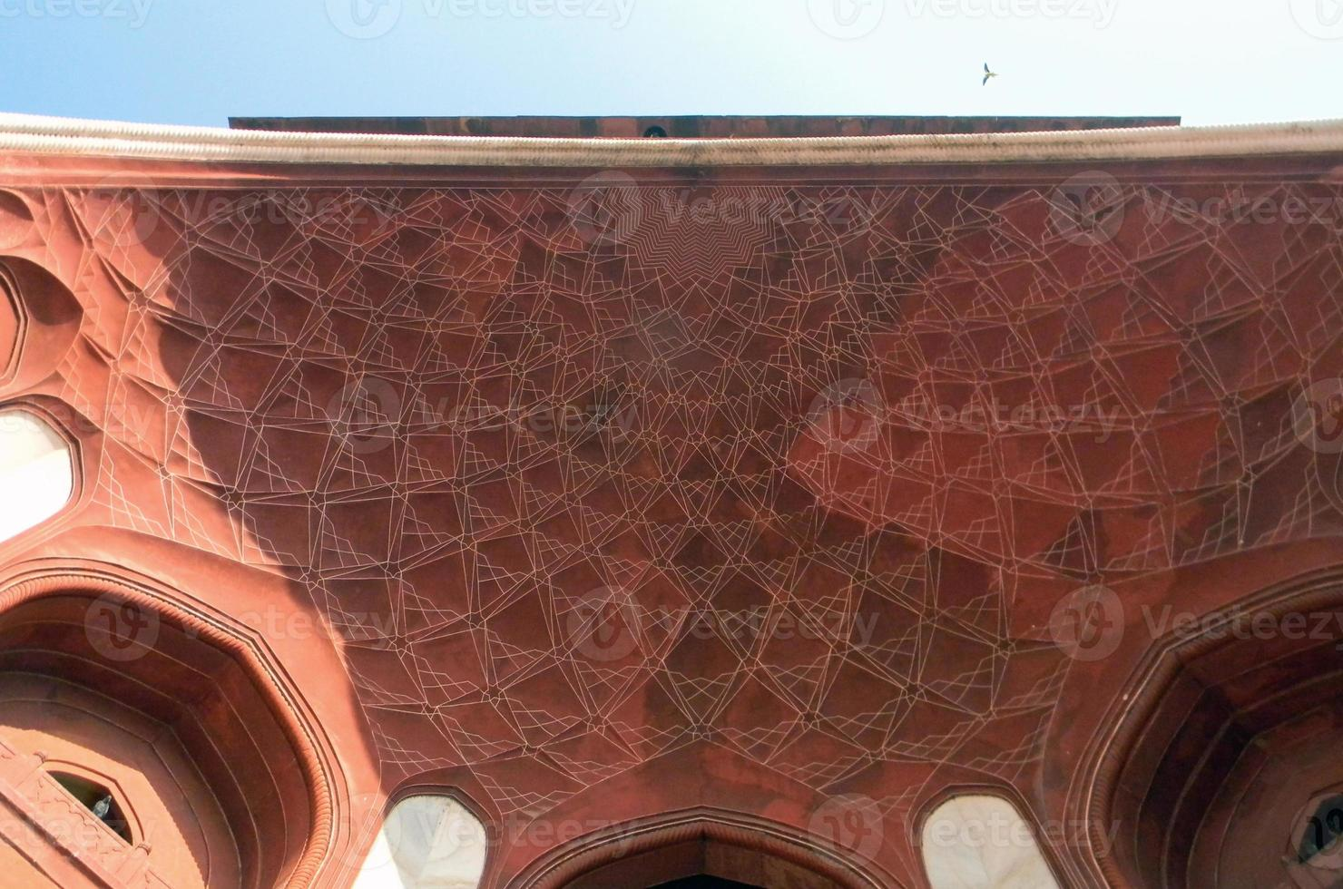 dettagli architettonici del cancello principale del Taj Mahal foto