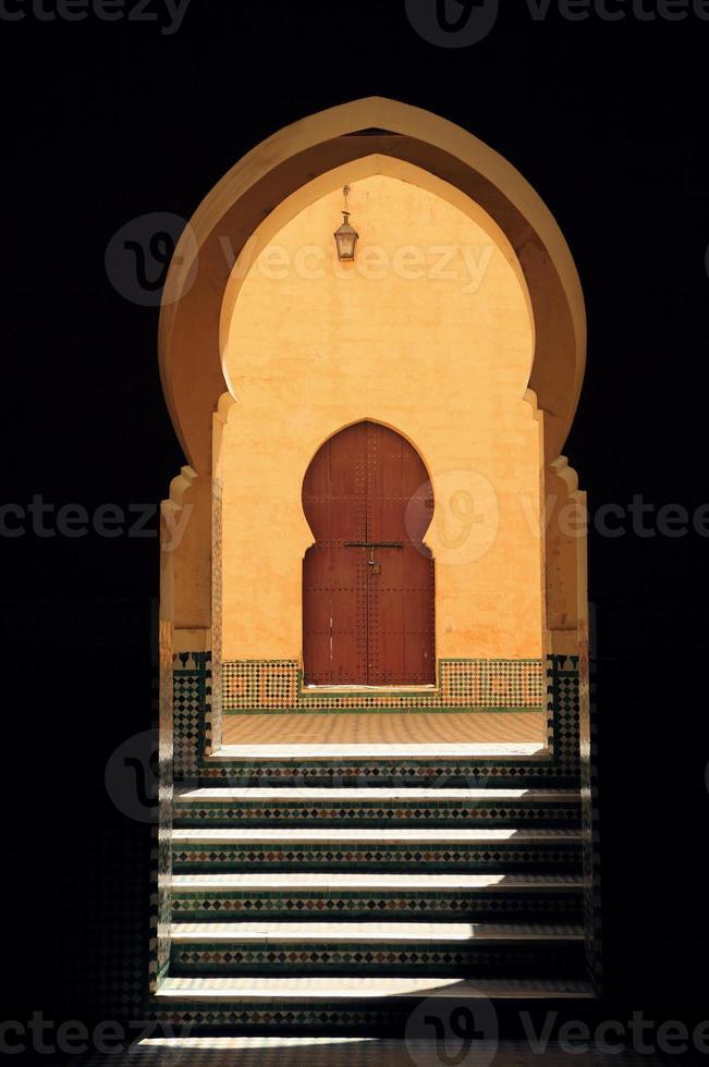 arco di arabesque - meknes, marocco. foto