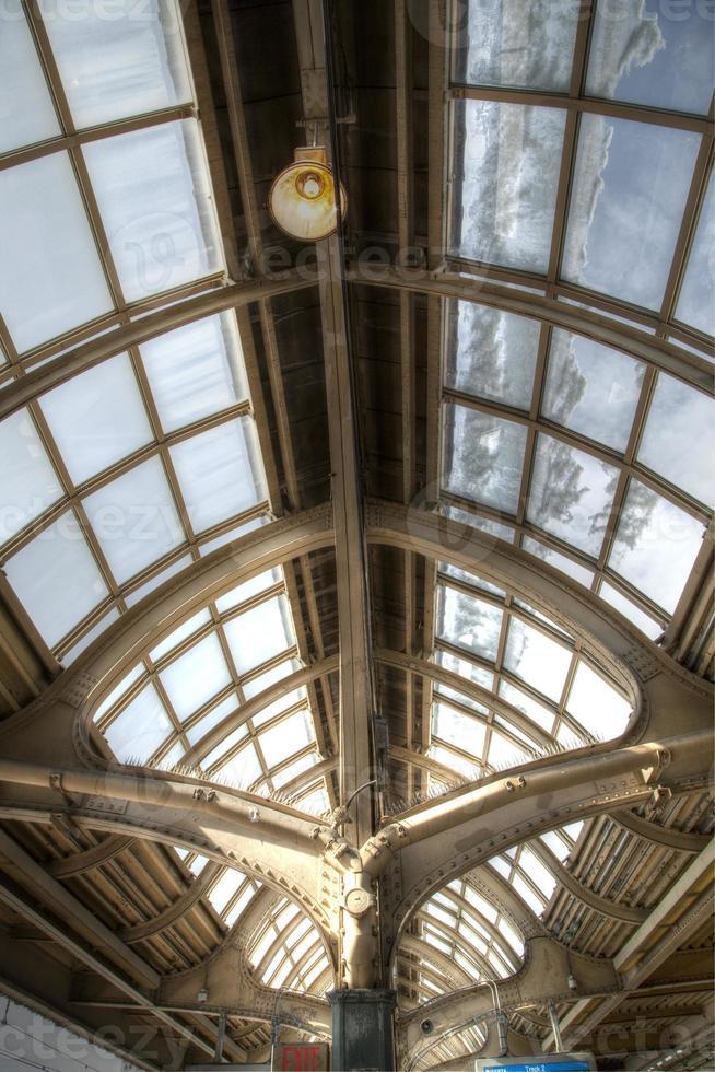 soffitto a volta in vetro vintage foto