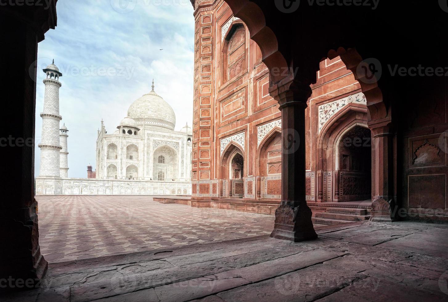 Taj Mahal e moschea in India foto