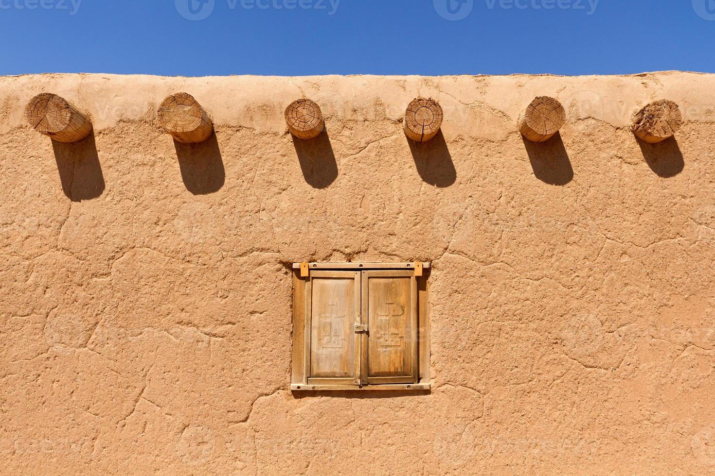 muro di adobe foto