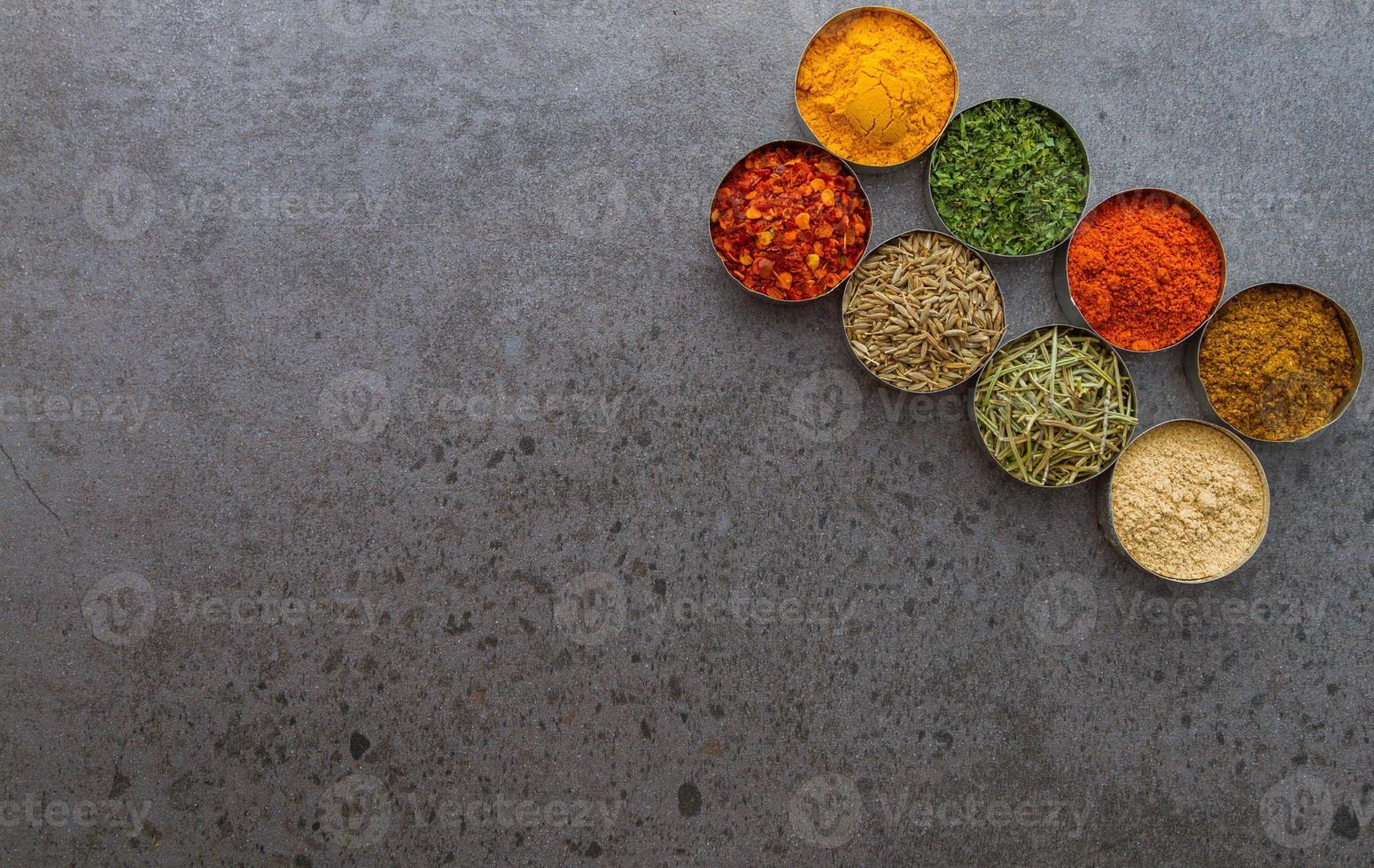 spezie selezione sfondo di selezione. foto