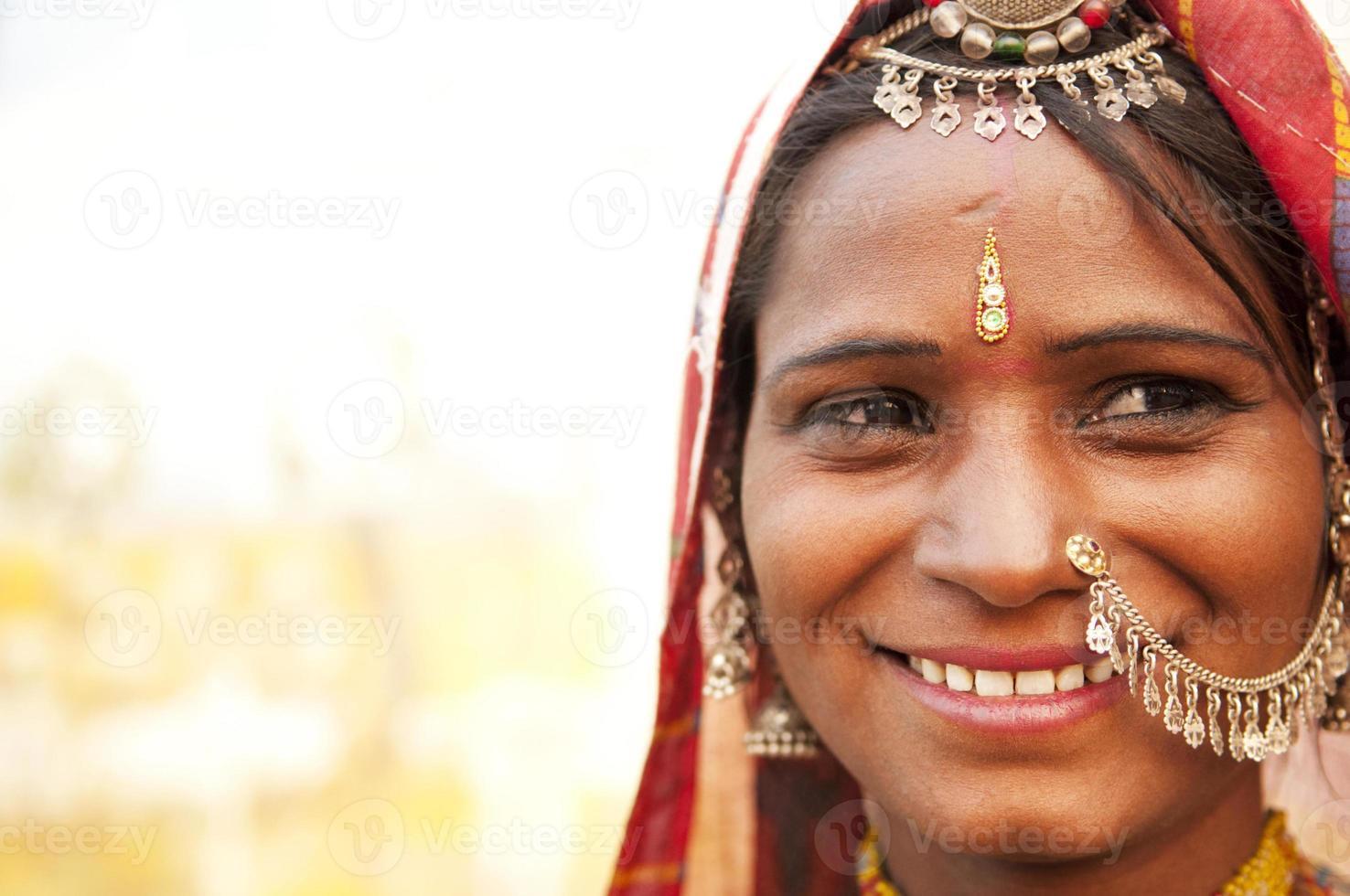 felice donna indiana foto