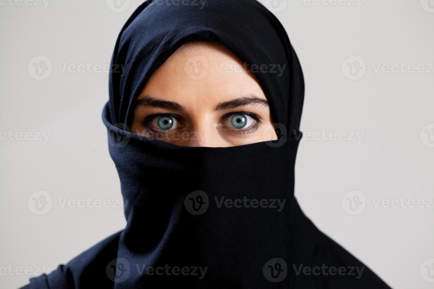 vista orizzontale della donna araba foto