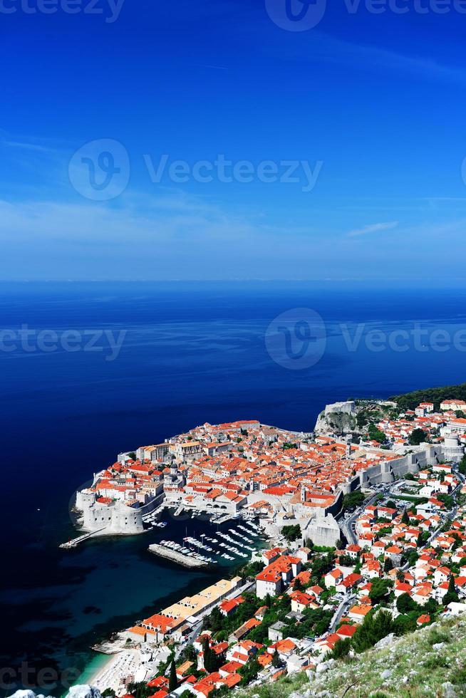 veduta aerea di dubrovnik, croazia foto