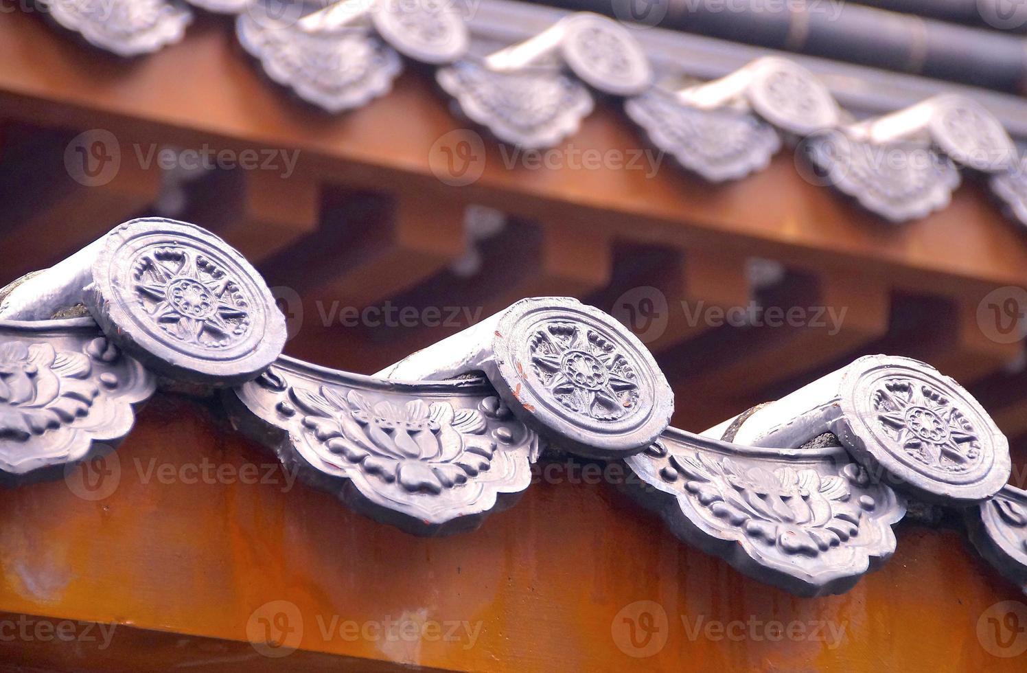 stile cinese di tegole foto