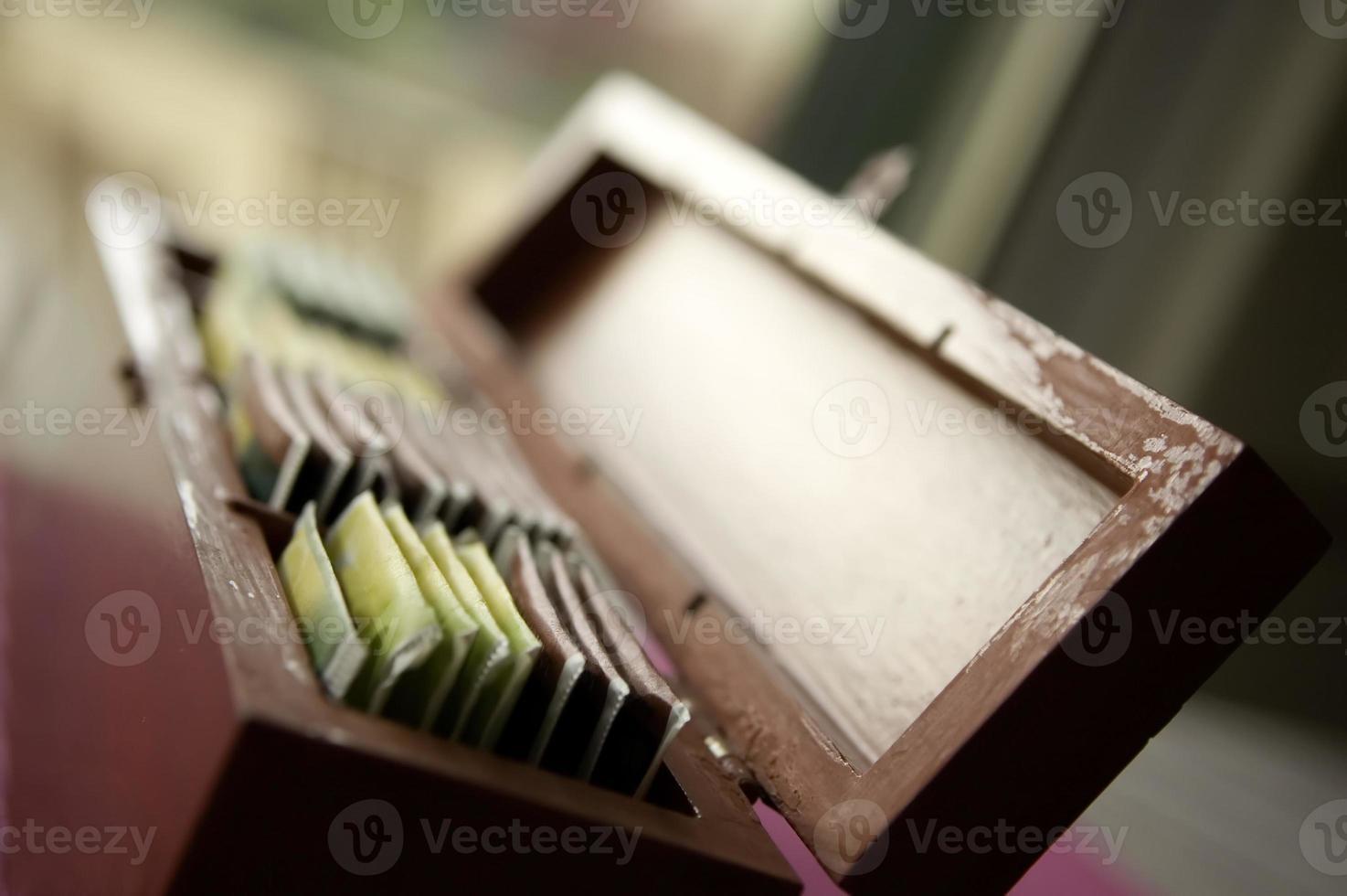 scatola da tè foto