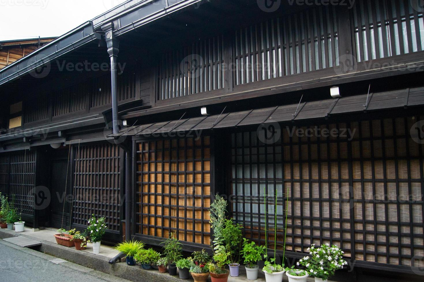 vecchie case di legno, takayama foto