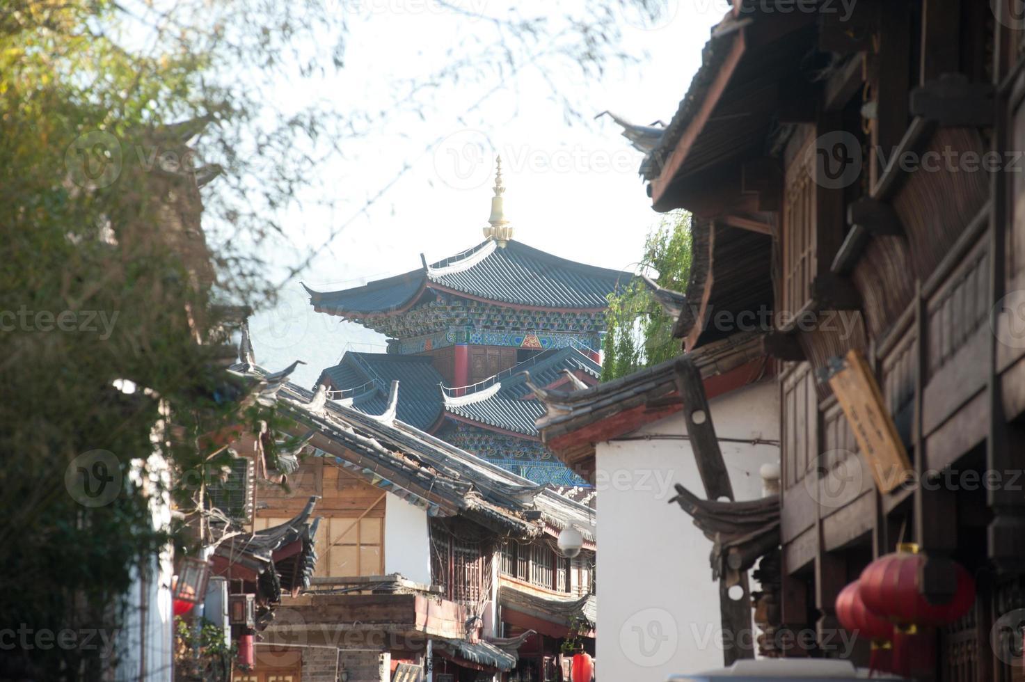 città storica di lijiang, patrimonio mondiale dell'UNESCO. foto