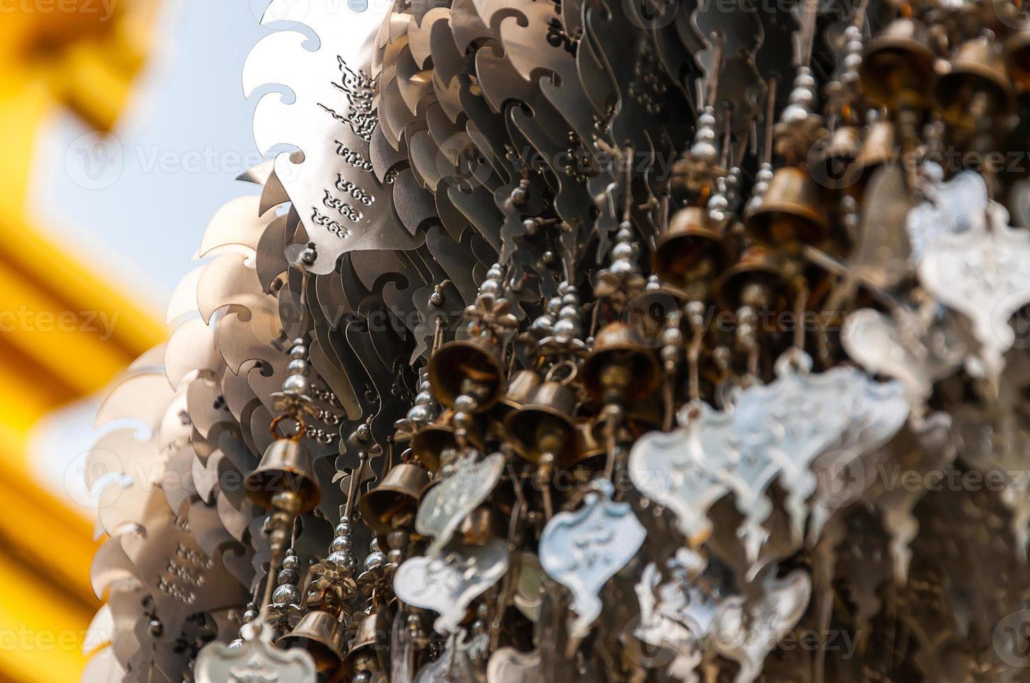 Wat Rong Khun - tempio bianco - Chiang Rai, Tailandia foto