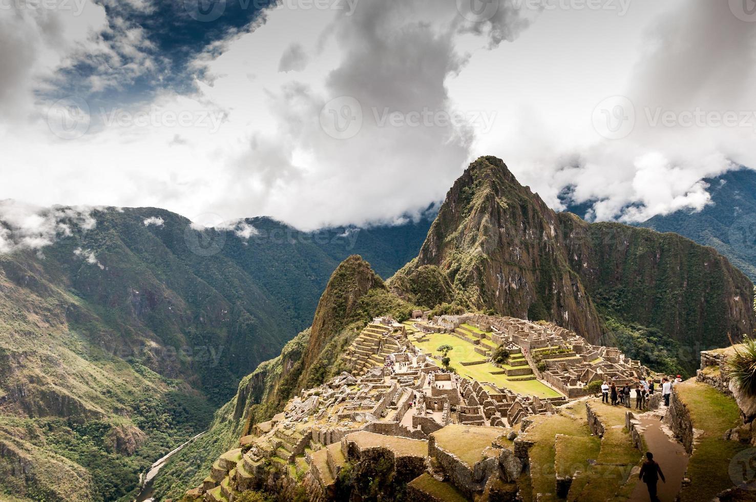 machu picchu (perù, sud america), patrimonio mondiale dell'unesco foto