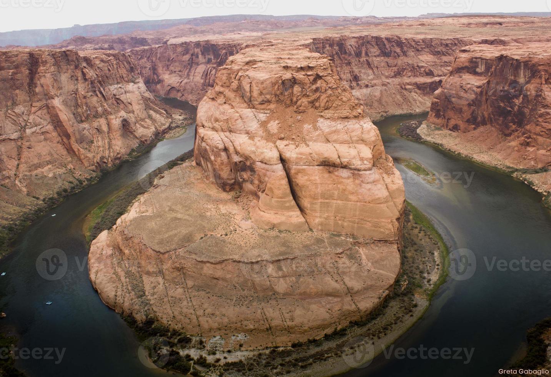 curva a ferro di cavallo, fiume colorado foto