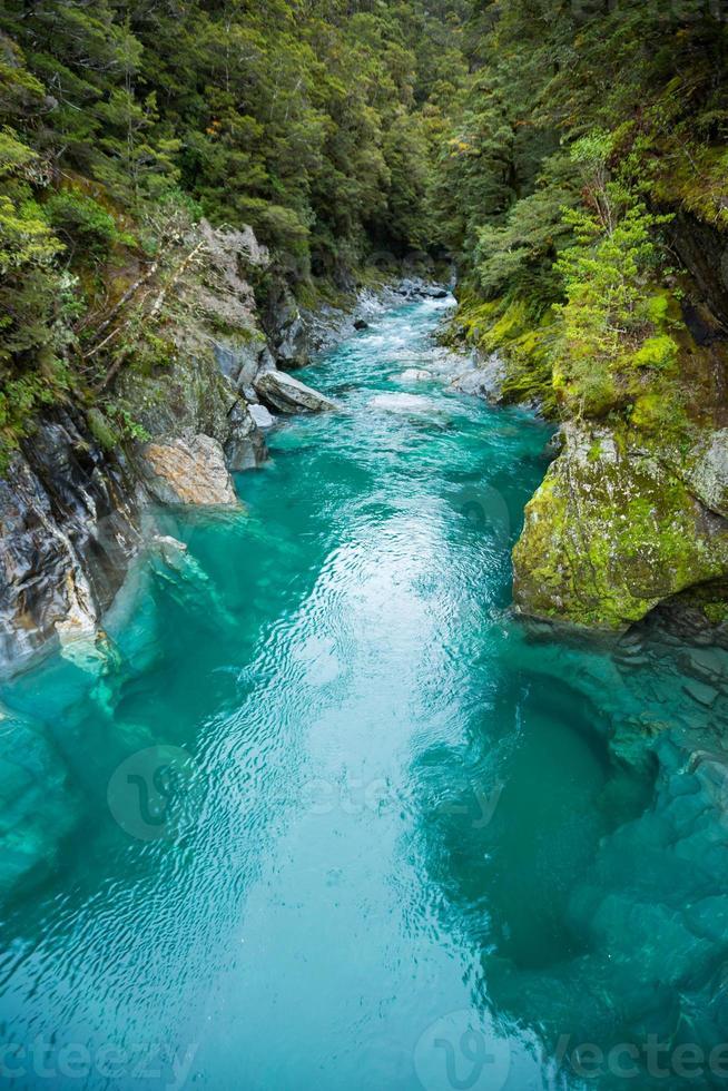 pista blu della piscina foto