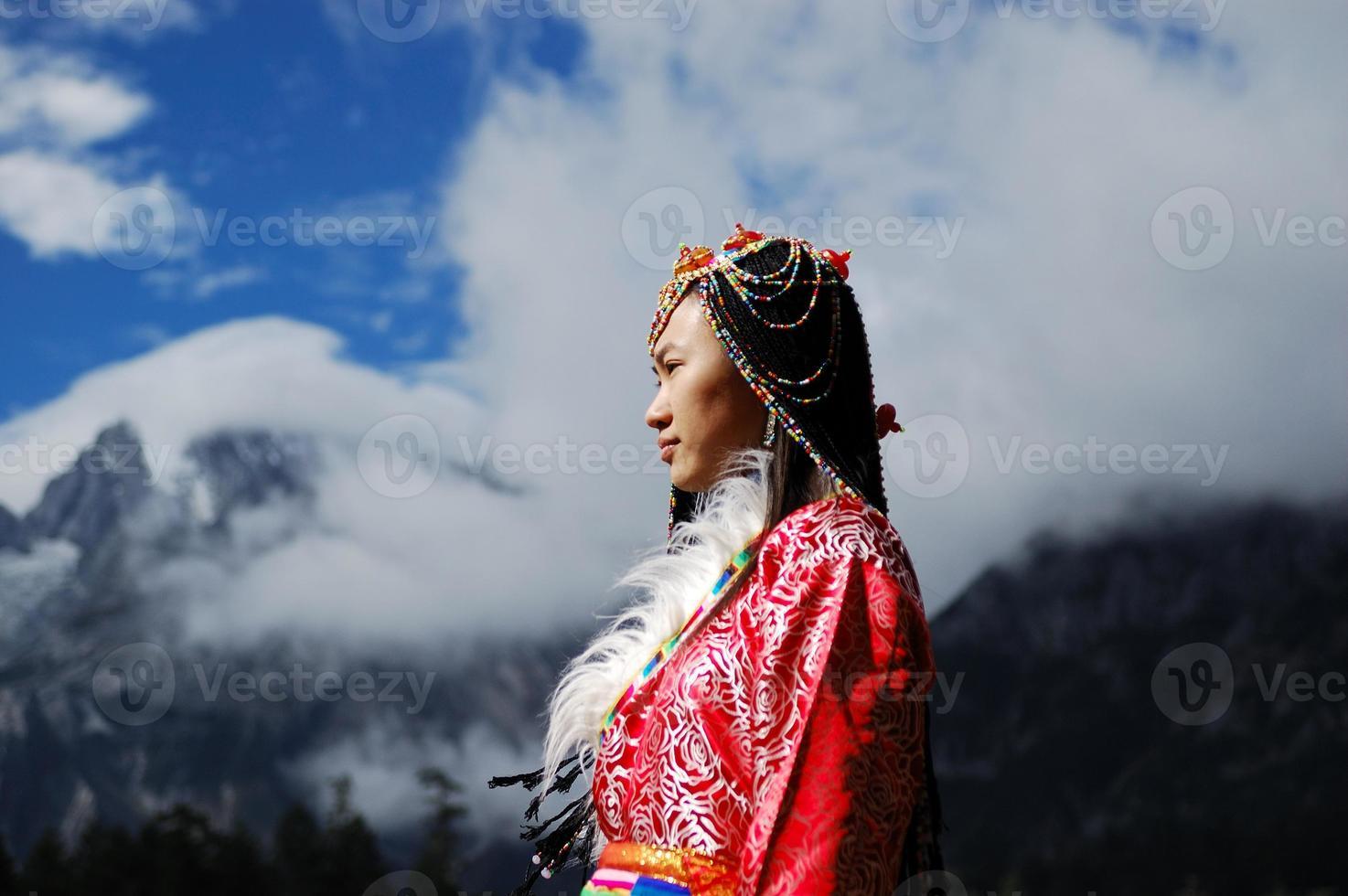 donna del Tibet foto