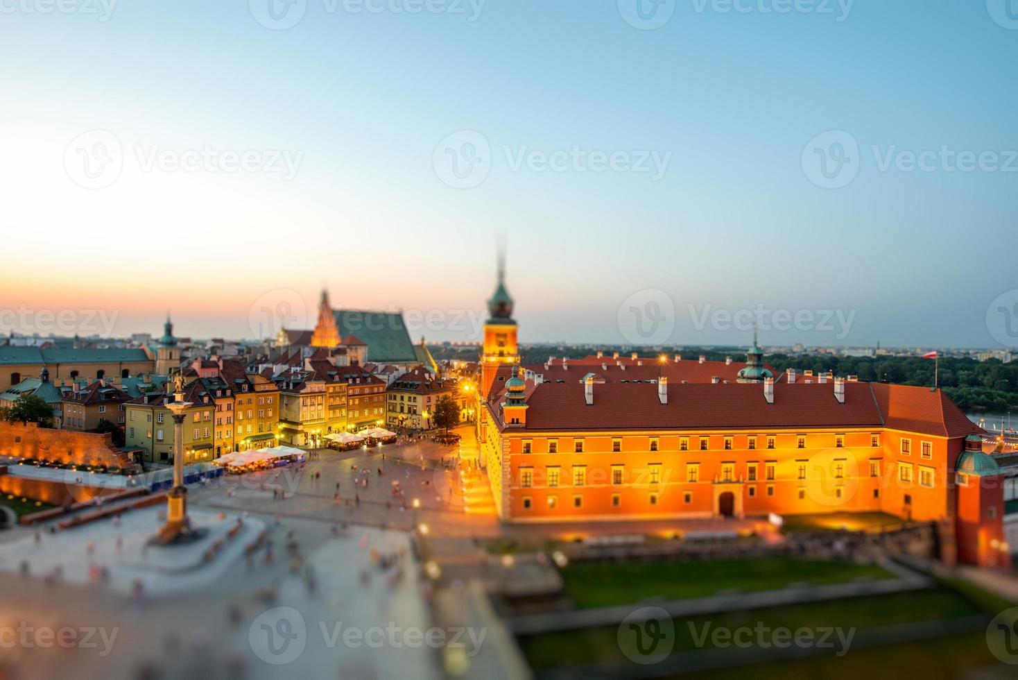 vista dall'alto della città vecchia di varsavia foto