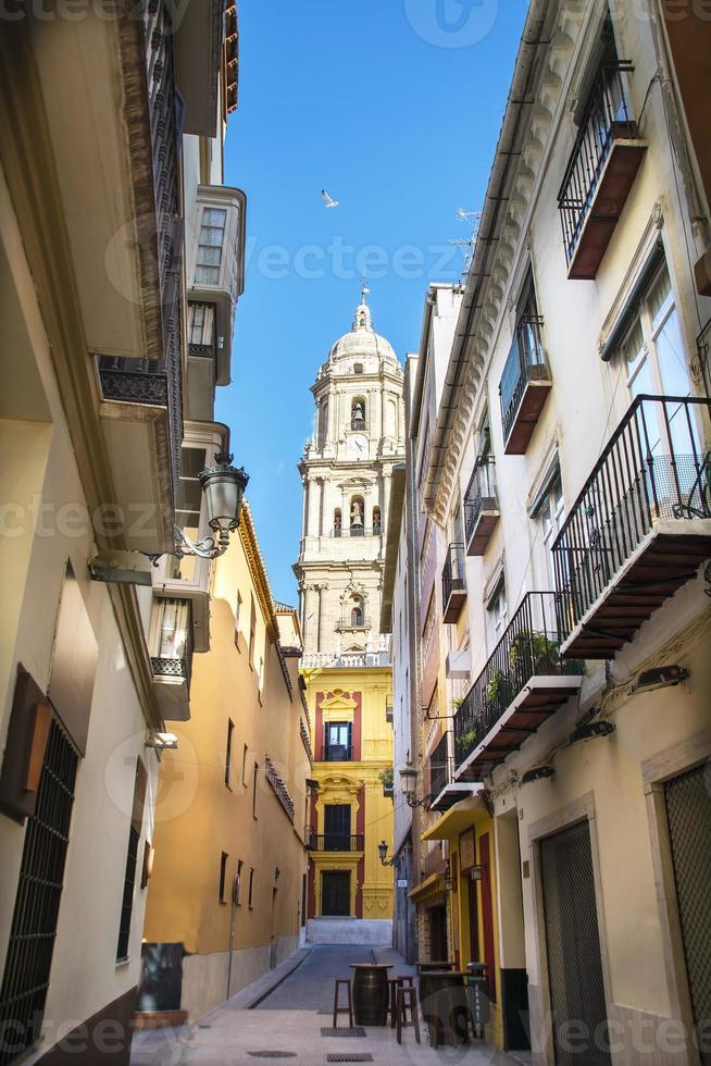 Cattedrale di Malaga dal vicolo foto