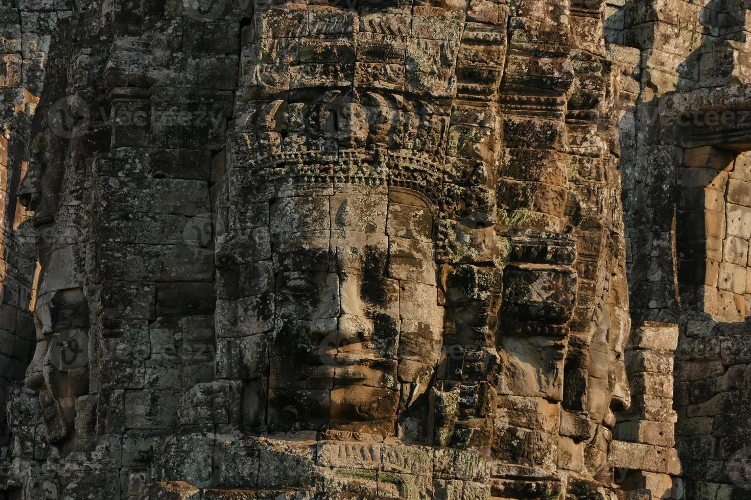 Bayon Temple di Angkor Thom in Cambogia foto