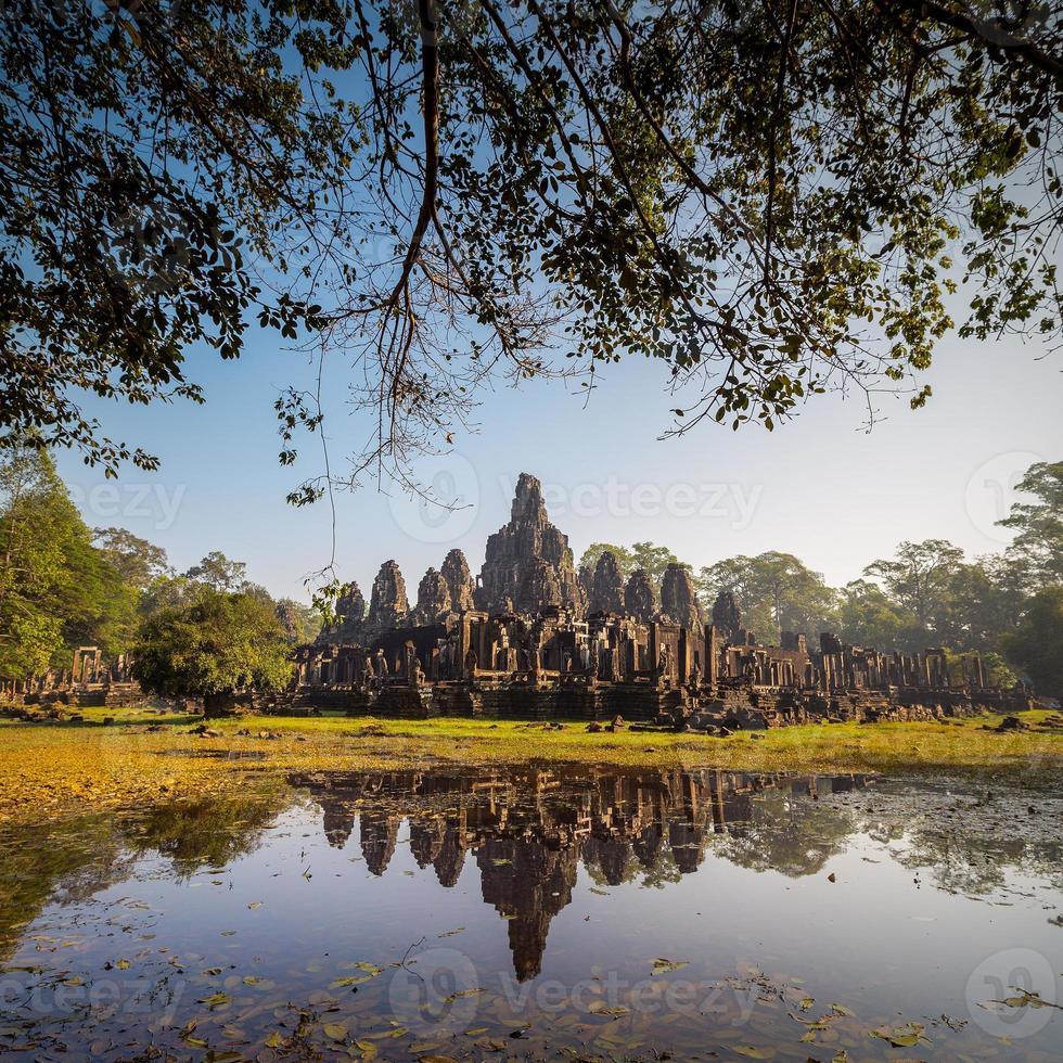 Tempio di Bayon, Angkor Thom, Siem Reap, Cambogia. foto