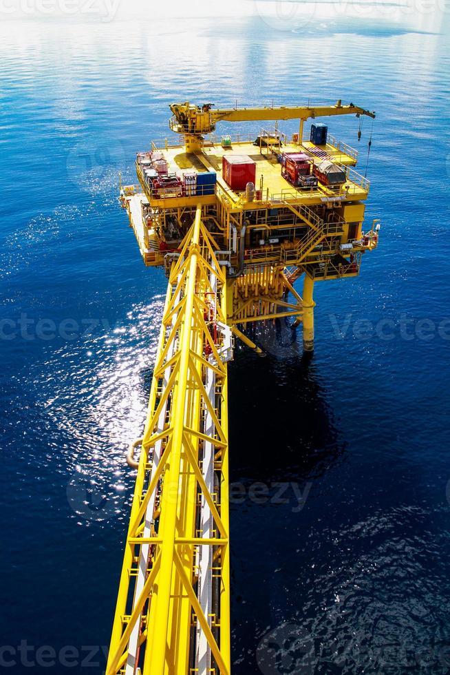 piattaforma petrolifera e del gas foto