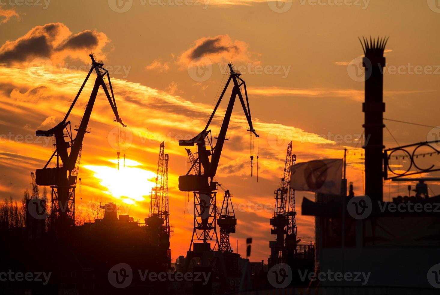 sagoma del porto di Amburgo foto