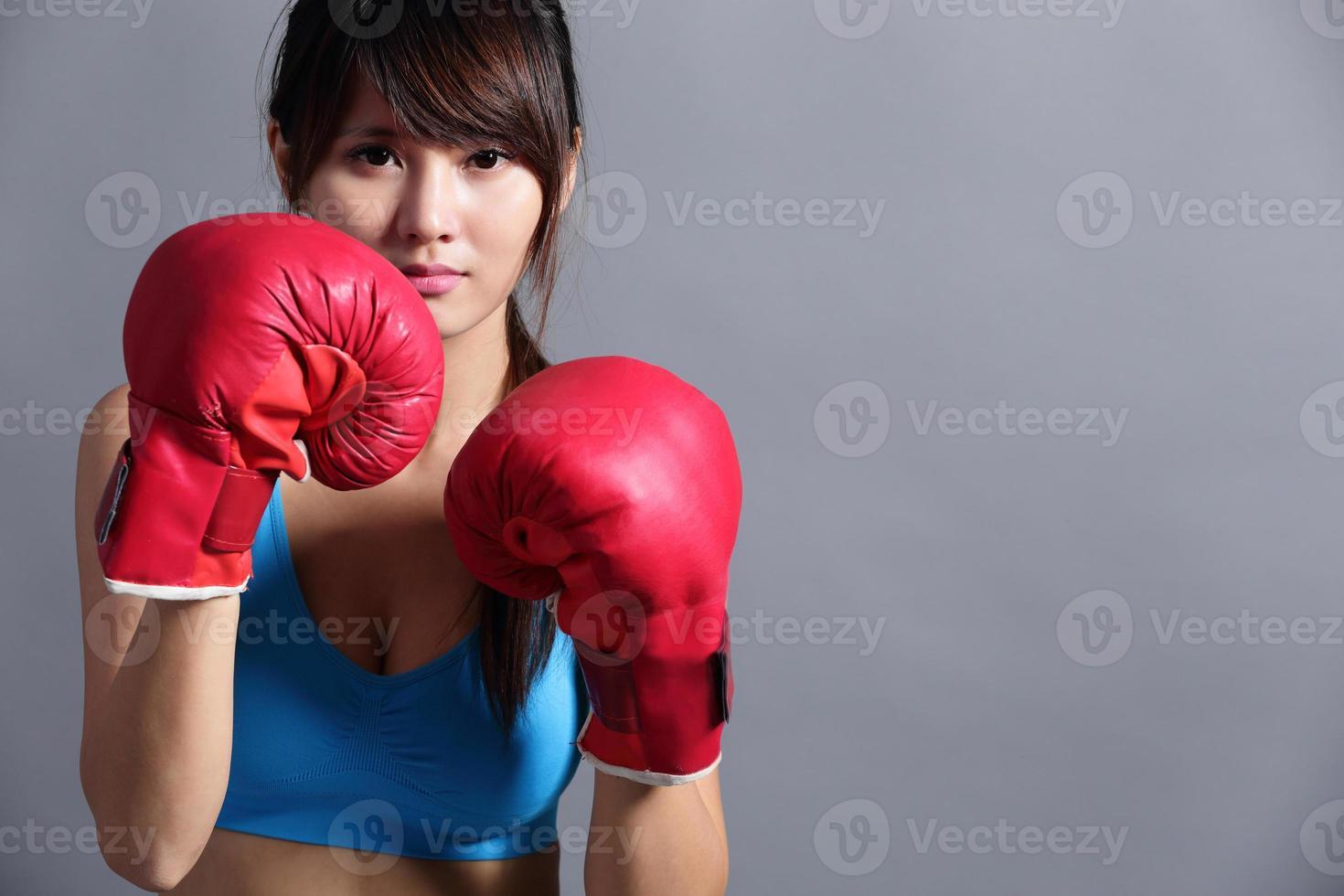 donna di boxe foto