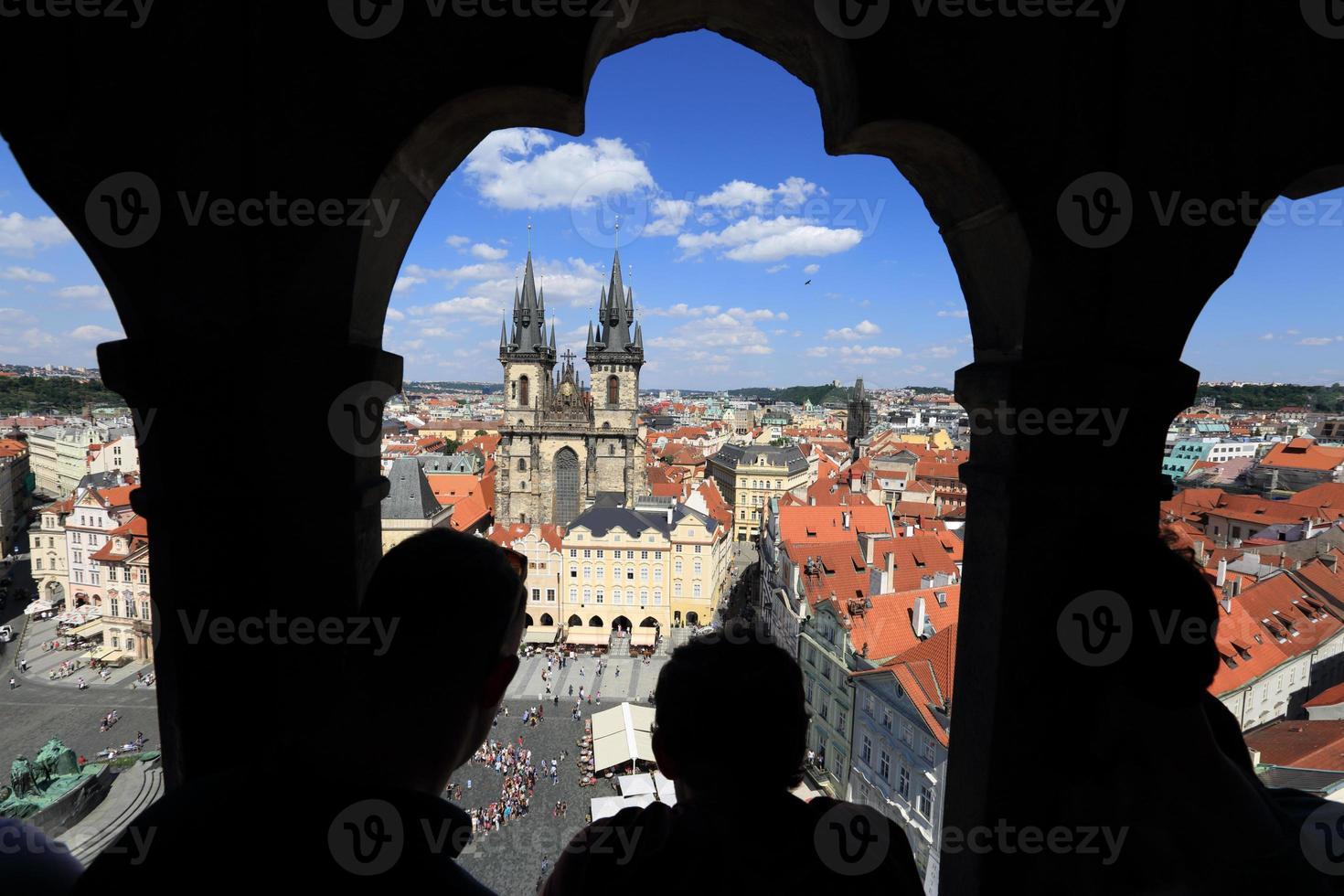 Praga, piazza della città vecchia foto