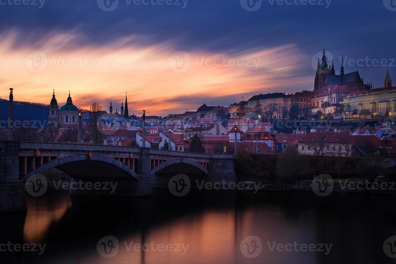 repubblica ceca, praga, mala strana durante il tramonto foto