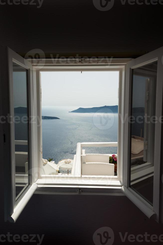 finestra di santorini foto