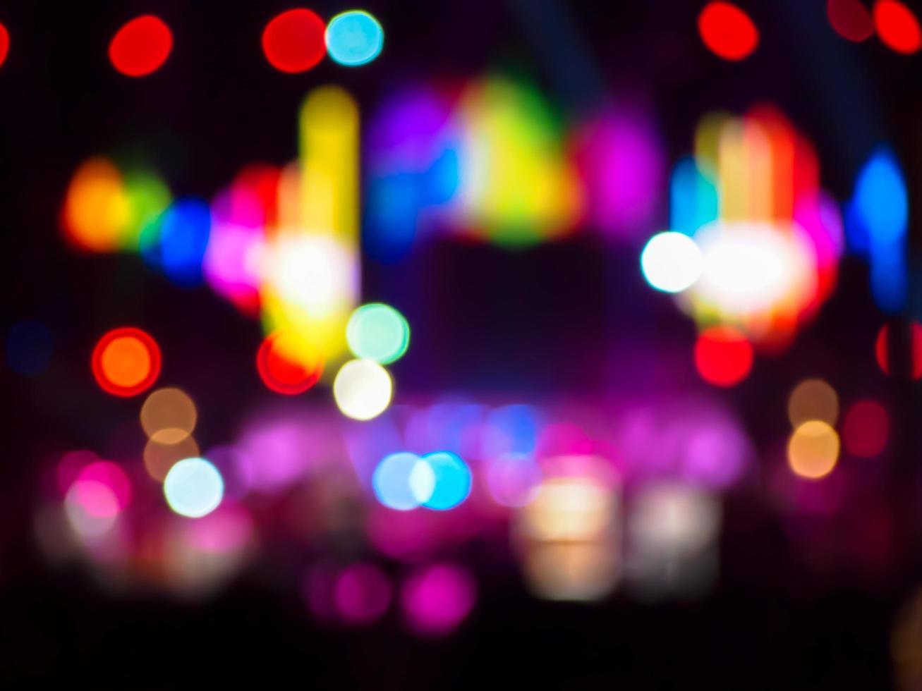 luci colorate della città del bokeh foto