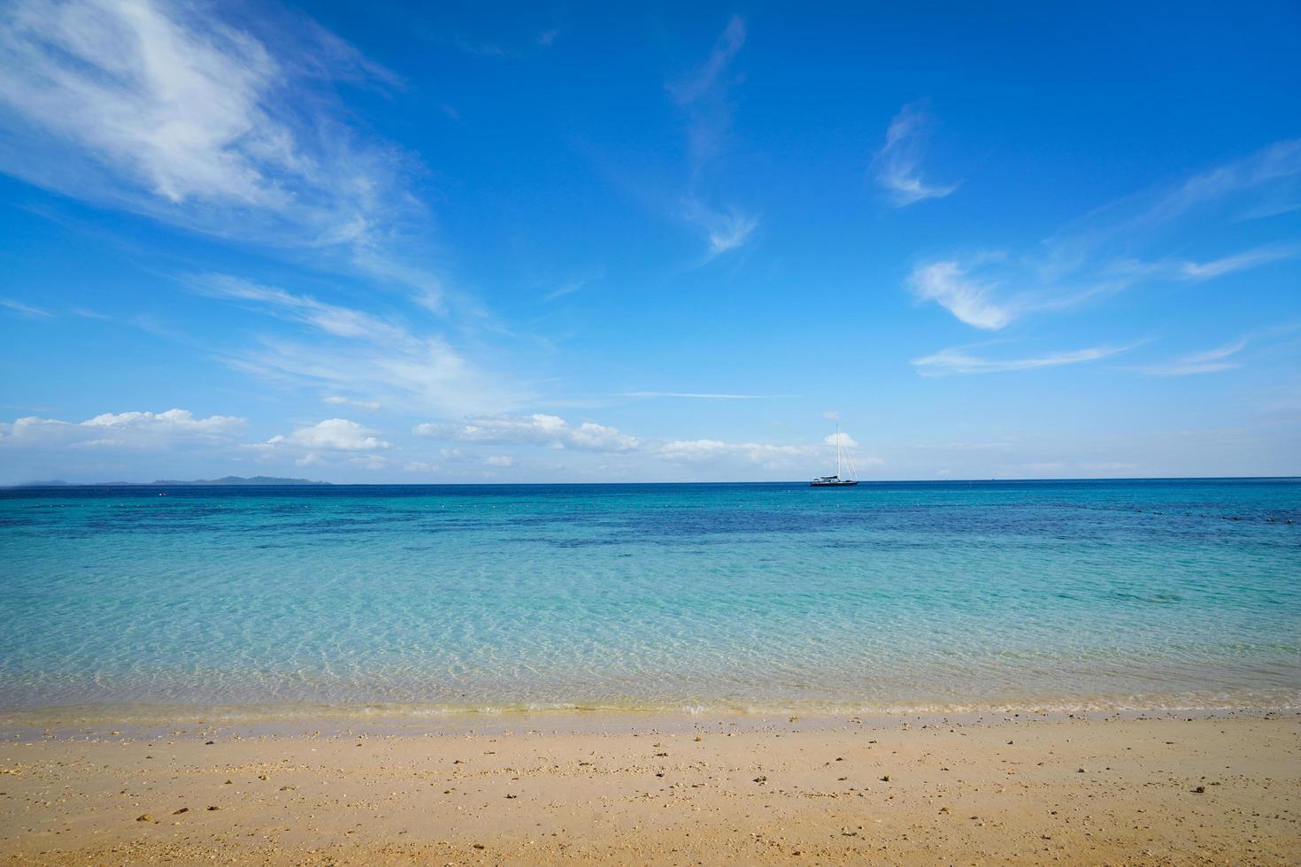KOH Rok Beach vuota nella stagione estiva, Tailandia foto