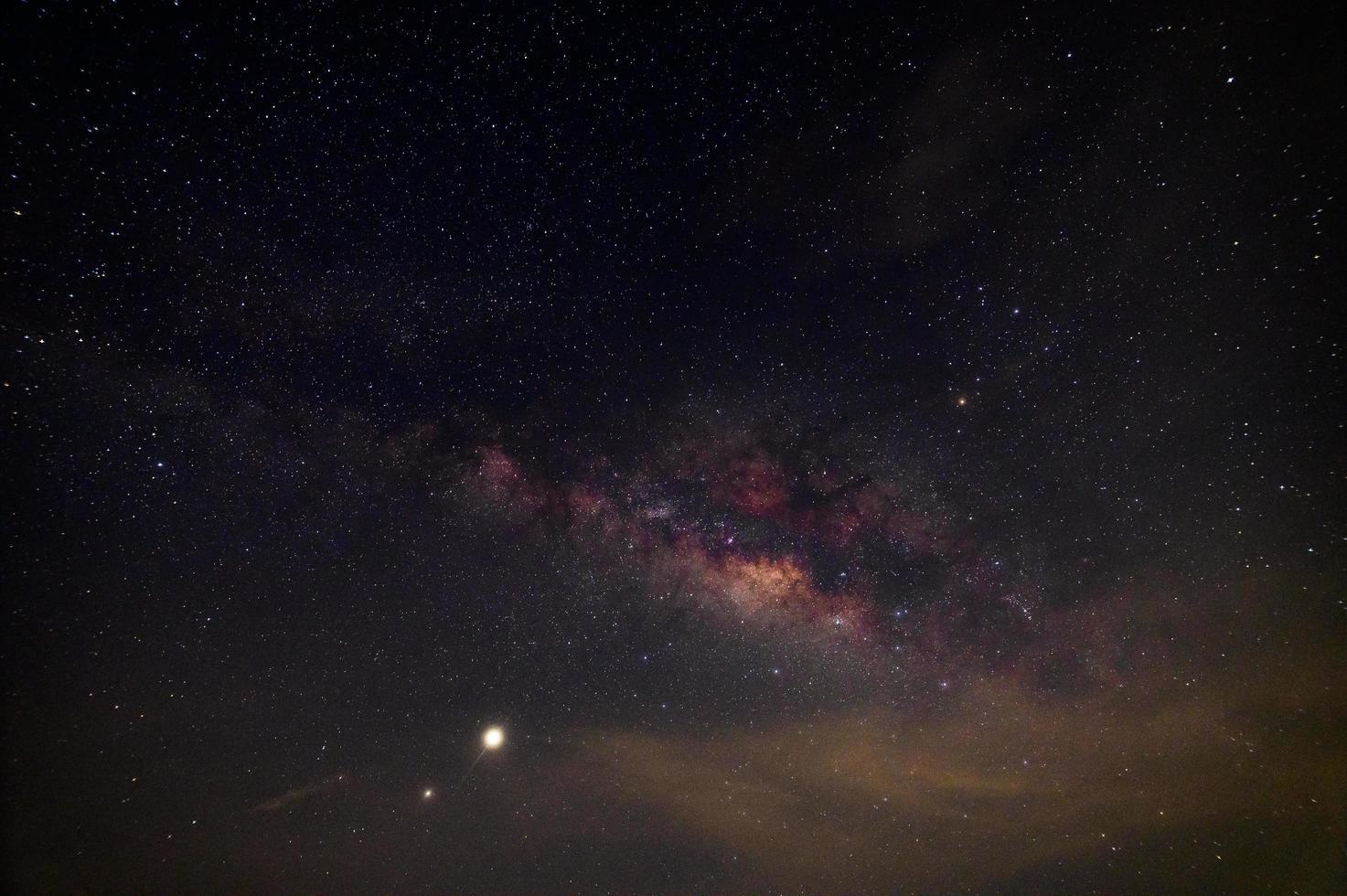 panorama del cielo notturno stellato foto