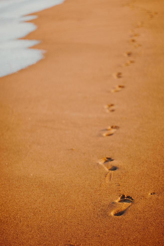 Impronte nella sabbia foto