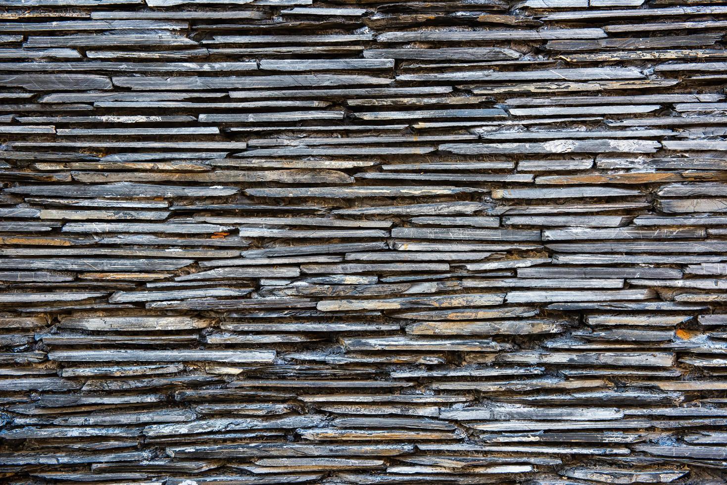 muro di assi di legno foto