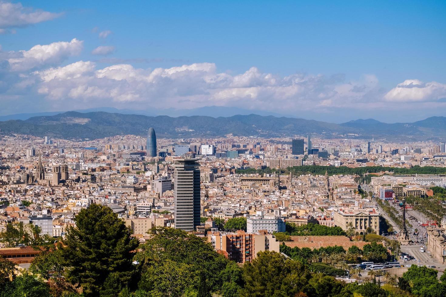 vista del paesaggio urbano di Barcellona foto