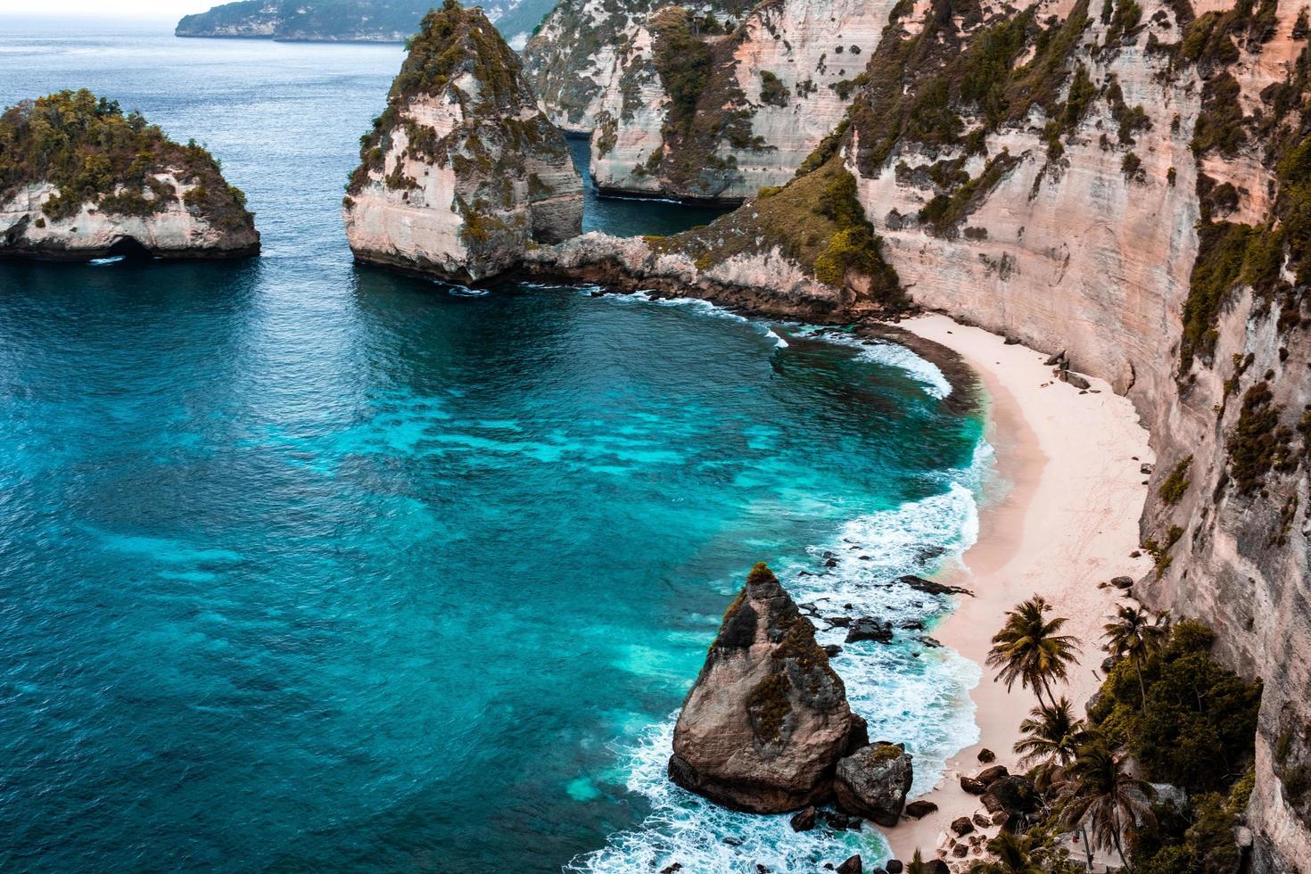 spiaggia della scogliera foto